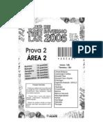 Furb 2005 2 Prova II Especifica Area 2