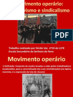 O movimento operário - associativismo e sindicalismo