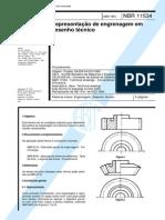 NBR 11534 - Representacao de Engrenagem Em Desenho Tecnico