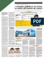 Por una educación de calidad - Diario El Comercio 20/01/14