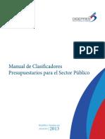 Manual Clasificadores Presupuestarios 2014