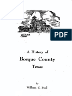 History of Bosque County Texas