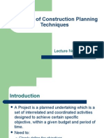 Overview of Construction Planning Techniques