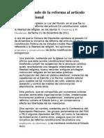 •  El trasfondo de la reforma al artículo 24 constitucional
