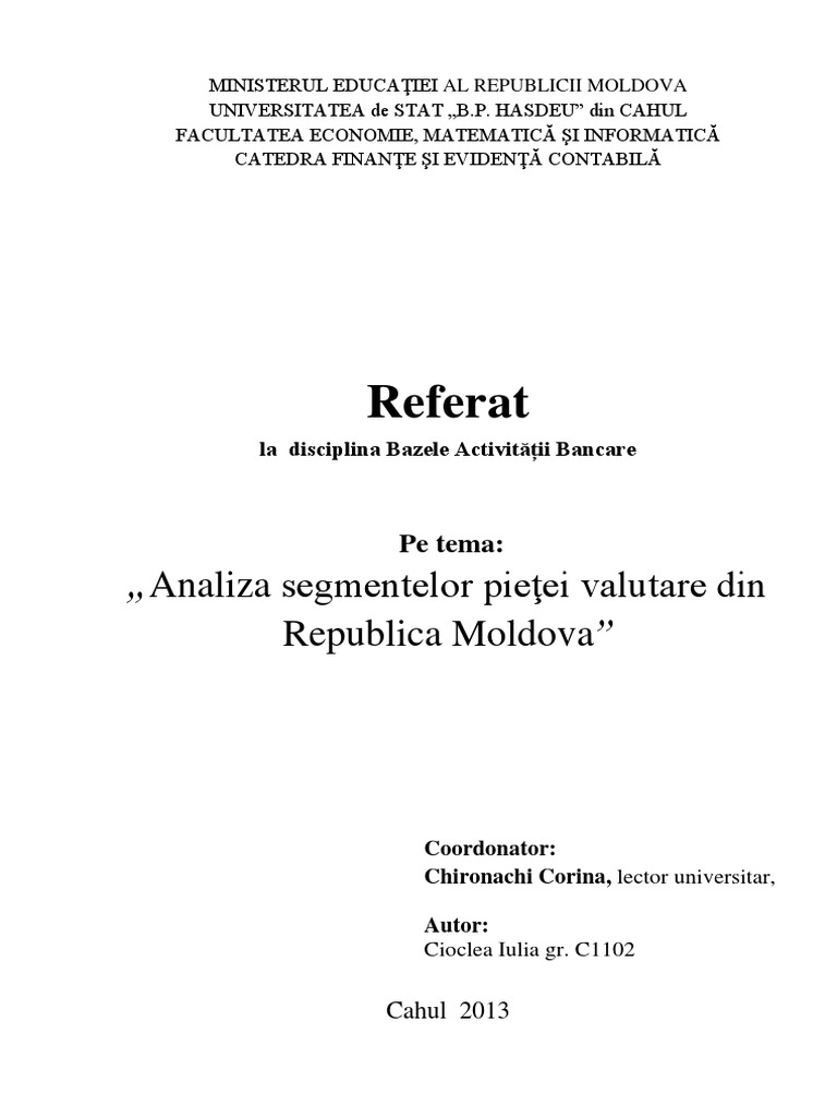 Evoluția pe piața valutară internă | Banca Națională a Moldovei