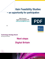 Digital Britain Feasibility Studies – an Opportunity for Participation