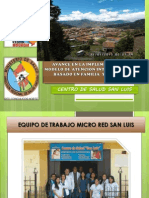 Avance Salud Familiar 2013 San Luis