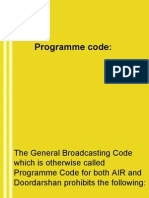 Broadcasting Codes of AIR/DD