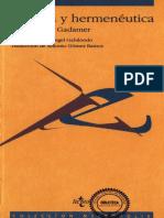 Hans-Geor Gadamer - Estética y Hermenéutica