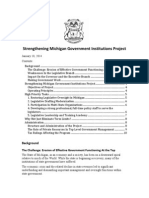 PDF Version FINAL 1:18:14 Strengthening Michigan Government Institutions Project Cornerstone Foundation Lessening the Burdens of Government