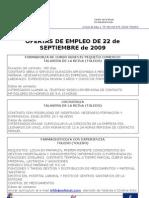 Ofertas Empleo Septiembre