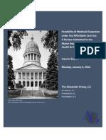 Maine Medicaid Expansion Report - Jan 6 2013 - Draft