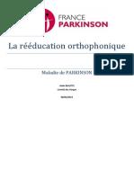 La Reeducation Orthophonique Dans La Maladie de Parkinson PDF