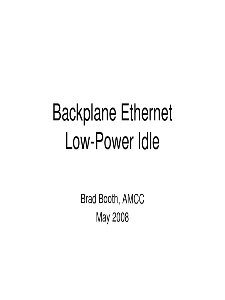 Lpi -low power idle | Computer Standards | Networks
