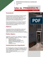 DESCRIPCIÓN CURSO PRIMAVERA P6 2013