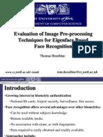 EvaluationOfImagePre Processing