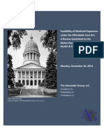 Maine Medicaid Expansion Report - Dec. 30 2012 Revision