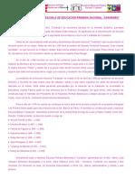 RESEÑA HISTÓRICA DE LA ESCUELA PRIMARIA BOLIVARIANA
