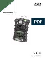 ALTAIR 4X Operating Manual - GB