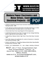 Electrical Project Titles, 2009 - 2010 NCCT Final Year Projects