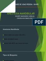 Anestesia em mandíbula