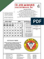 BNS calendar2009