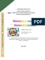 Elementos Que Componen Los Sistemas Administrativos