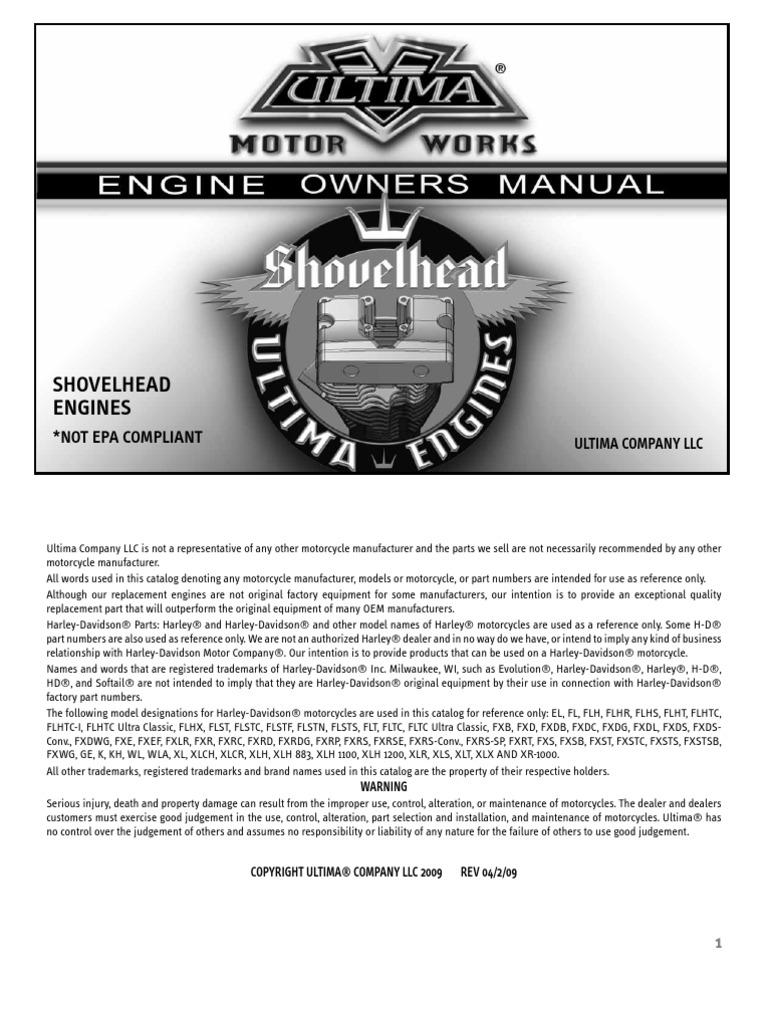 Shovel Head Engine Manual | Carburetor | Harley Davidson