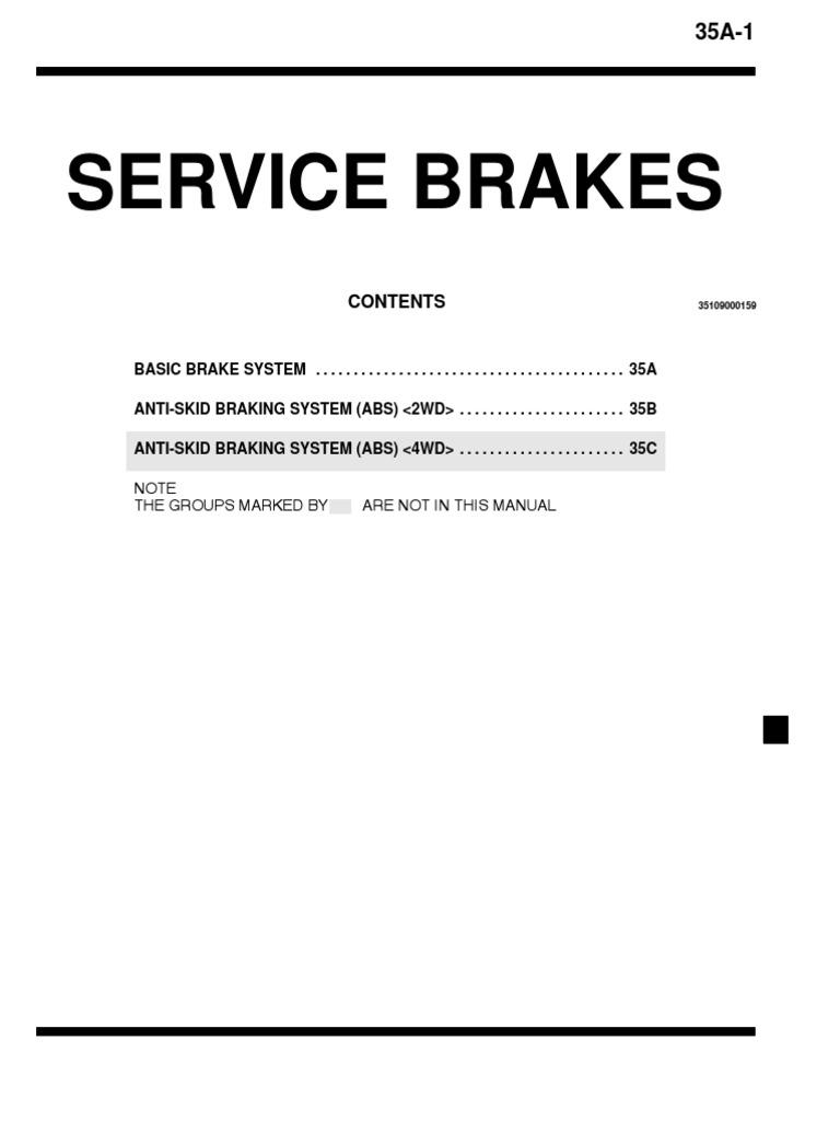 Service Brakes Mitsubishi Galant