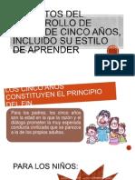 Aspectos del desarrollo de niños de cinco años