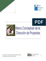 1. Marco Conceptual de la Dirección del Proyecto