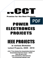 IEEE Power Electronics IEEE Project Titles, 2009 - 2010 NCCT Final Year Projects