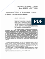 Berger - 2003 - Economic Effects of Technological Progress in the Banking Industry