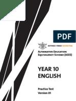 Year 10 English Practice Test