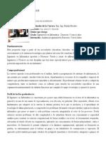 Ingeniería Informática PLAN DE ESTUDIOS 2014