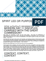 Spirit Led or Purpose Driven