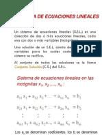 MP Sistema de Ecuaciones Lineales