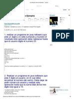 Java Netbeans Ejercicios Ejemplos - Taringa!