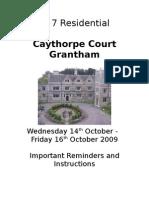 Caythorpe Court 2009 Booklet