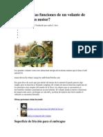 Cuáles son las funciones de un volante de inercia de un motor