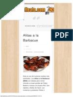 Alitas a La Barbacue _ Recetas de Pollo