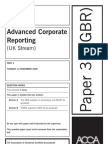 Advanced Corporate Reporting