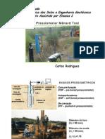 PTM - Pressiometer Ménard Test (FCTUC)