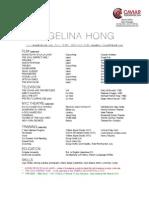 Angelina Hong 2014 Resume