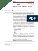 Transfusion Nurse Role