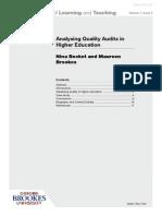 Analysing Quality
