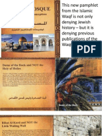 Lies of the Islamic Waqf in Jerusalem