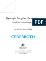 Strategic Supplier Evaluation