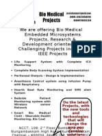 Bio Medical Project Titles, 2009 - 2010 NCCT Final Year Projects