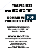 Domain Wise Project Titles, 2009 - 2010 NCCT Final Year Projects